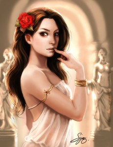 Aphrodite (Venus) Greek Goddess - Art Picture by KamillYonsiya