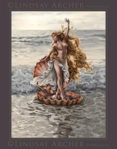 Aphrodite (Venus) Greek Goddess - Art Picture by LinzArcher