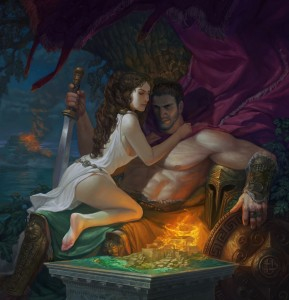 Aphrodite (Venus) and Ares (Mars) - Art Picture by hellstern