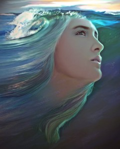 Aphrodite Rising from the sea - Art Picture by TheArtistDarklady