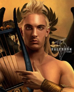 Apollo Greek God - Art Picture by Valerhon