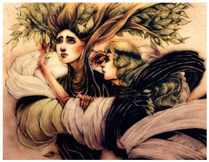 Greek God Apollo and Daphne - Art Picture by isnukwin
