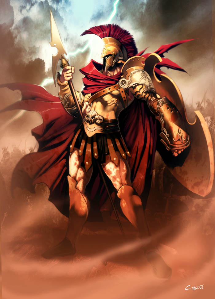 Ares  Mars  Greek God - Art Picture by GenzoManAres And Athena Together