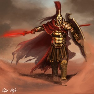 Ares (Mars) Greek God - Art Picture by Peterprime