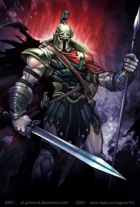 Ares (Mars) Greek God - Art Picture by el grimlock