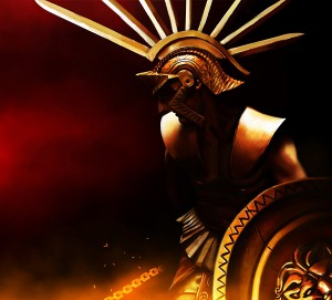 Ares (Mars) Greek God - Art Picture by konnee