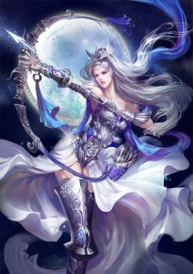 Artemis (Diana) Greek Goddess - Art Picture by jjlovely