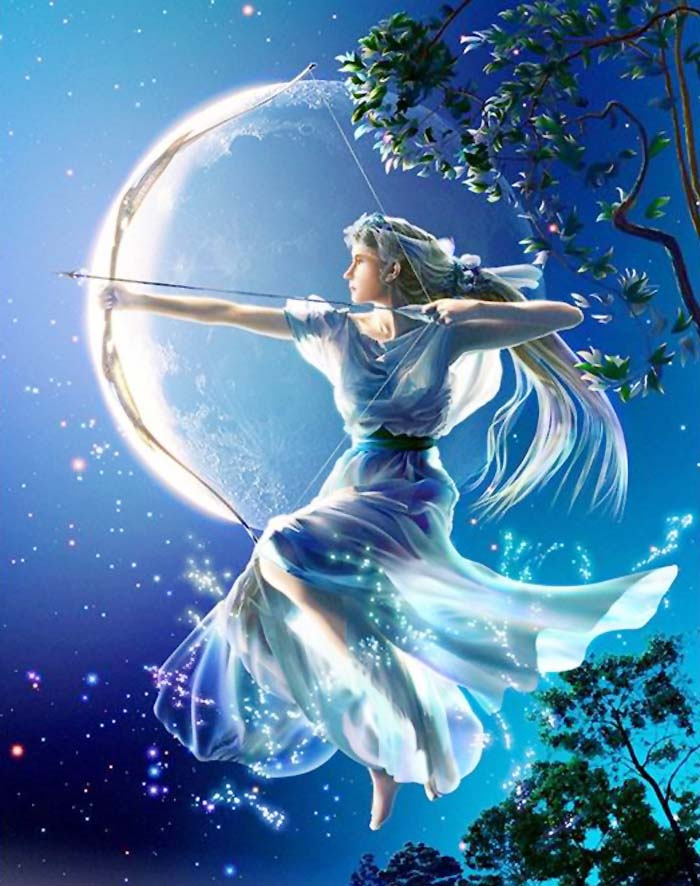 Artemis (Diana) , Greek Goddess of Mountains, Forests and