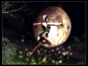 Artemis (Diana) Greek Goddess - Art Picture by Radiositysg