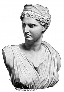 Greek Goddess Artemis (Diana) Statue