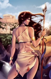 Athena (Minerva) Greek Goddess - Art Picture by chatgr
