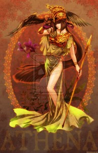 Athena (Minerva) Greek Goddess - Art Picture by zelda994612