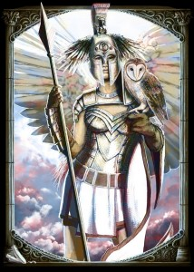 Athena (Minerva) Greek Goddess - Art Picture by Janiceduke
