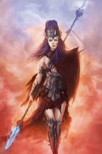 Athena (Minerva) Greek Goddess marching to war - Art Picture
