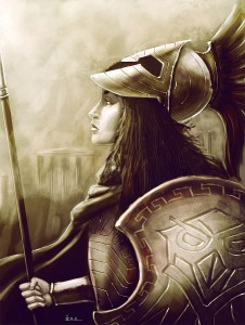Athena (Minerva) Greek Goddess - Art Picture by Nero tbs