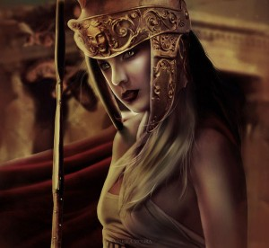 Athena (Minerva) Greek Goddess - Art Picture by Valeskamoura
