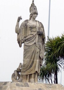 Greek Goddess Athena (Minerva) Statue