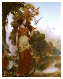 Demeter (Ceres) Greek Goddess - Art Picture by Howard David Johnson