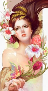 Demeter (Ceres) Greek Goddess - Art Picture by jjlovely