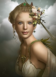 Demeter (Ceres) Greek Goddess - Art Picture