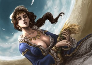 Demeter (Ceres) Greek Goddess - Art Picture by Midori Harada