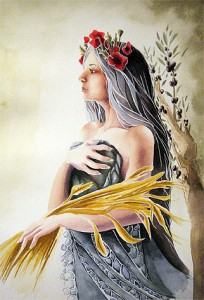 Demeter (Ceres) Greek Goddess - Art Picture by Natalie Busutti