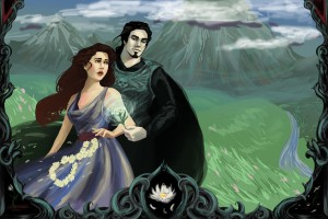 Hades kidnapping Persephone - Art Picture by Jynette Tigner