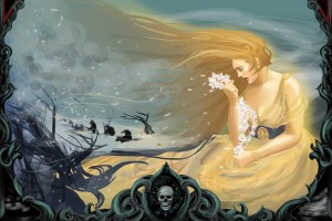 Demeter mourning and searching for Persephone - Art Picture by Jynette Tigner
