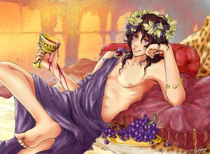Dionysus (Bacchus) Greek God - Art Picture by DreamlessxPassion