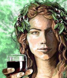 Dionysus (Bacchus) Greek God - Art Picture by Janice Duke