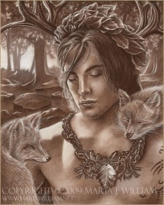 Dionysus (Bacchus) Greek God - Art Picture by sijeney