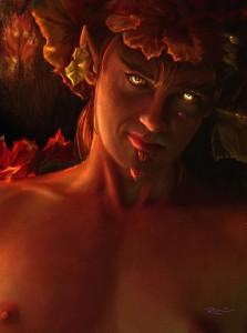 Dionysus (Bacchus) Greek God - Art Picture by valerhon