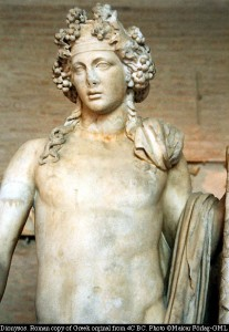Greek God Dionysus (Bacchus) Statue, a Roman copy of a Hellenistic original - Photo by Maicar Forlag