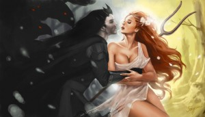 Hades (Pluto) abducting Persephone - Art Picture by sayara_s