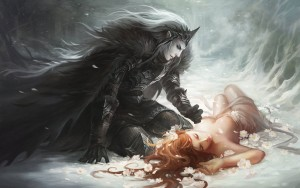 Hades (Pluto) and Persephone Art Picture by sandara