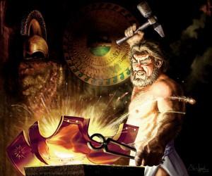Hephaestus (Vulcan) Greek God - Art Picture by Chris Appel