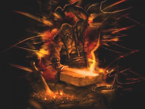 Hephaestus (Vulcan) Greek God - Art Picture by HardCoreDesigns