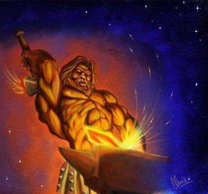 Hephaestus (Vulcan) Greek God - Art Picture by veritas71