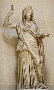 Greek Goddess Hera (Juno) Statue - The Campana Hera, a Roman copy of a Hellenistic original, from the Louvre
