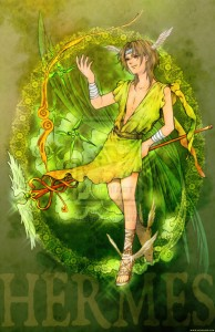 Hermes (Mercury) Greek God - Art Picture by zelda994612