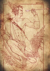 Hermes (Mercury) Greek God - Art Picture by Stregatto10