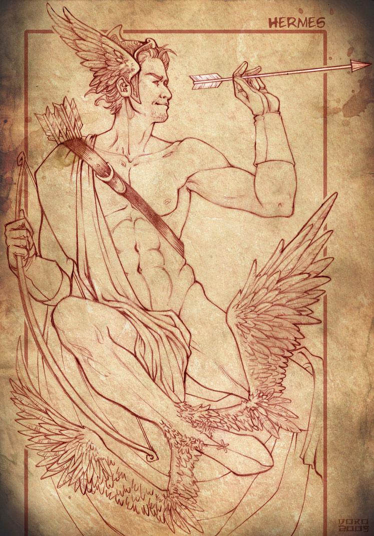 Hermes mercury greek god of transitions and boundaries hermes mercury greek god art picture by stregatto10 buycottarizona