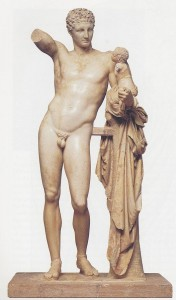 Greek God Hermes (Mercury) Statue - Hermes of Praxiteles