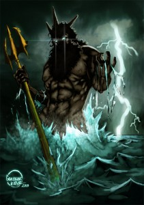 Poseidon (Neptune) Greek God - Art Picture by Gokberk Kaya