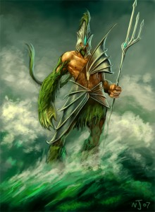Poseidon (Neptune) Greek God - Art Picture by TaekwondoNJ