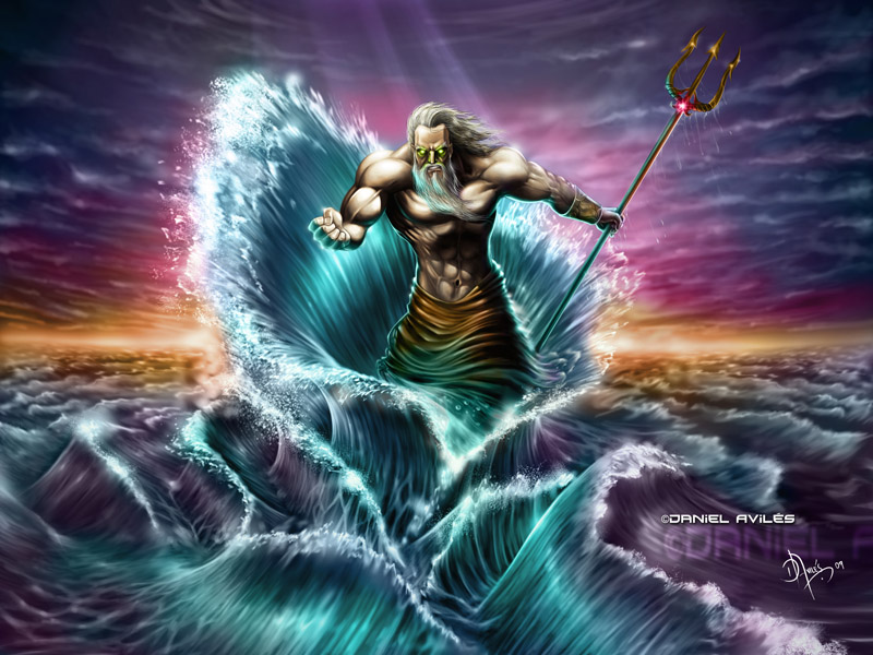 Poseidon Neptune Greek God Of The Sea Greek Gods
