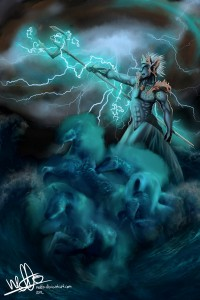 Poseidon (Neptune) Greek God - Art Picture by Neffo