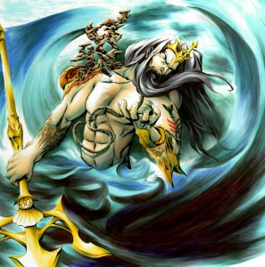 Poseidon (Neptune) Greek God - Art Picture by Seraphim87