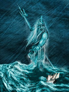 Poseidon (Neptune) Greek God - Art Picture by uysaltimsah