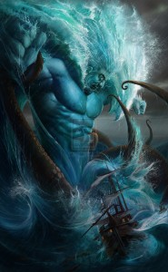 Poseidon (Neptune) Greek God - Art Picture by Angg